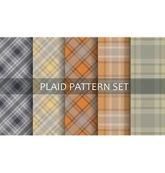 Plaid Patterns set vector image
