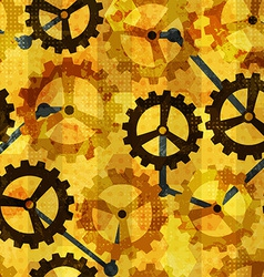 steampunk cogwheel grunge seamless vector image vector image
