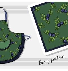 BerryPatternApron vector image