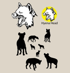Hyena silhouette and logo vector