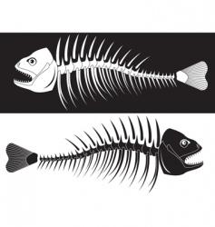 skeleton fish vector image vector image