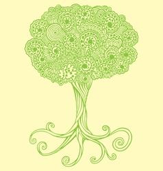 tree doodles vector image