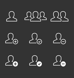 account icon for graphic and web design vector image