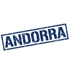 Andorra blue square stamp vector