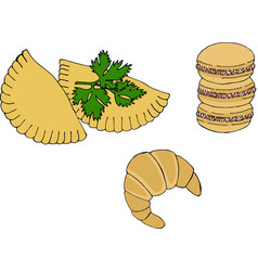 Argentine national cuisine such as empanadas vector