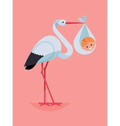 Baby in a Stork vector