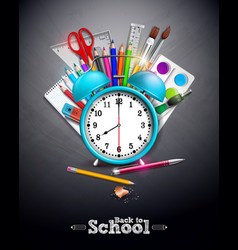 back to school design with graphite pencil pen vector image
