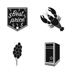 Best price cancer and other web icon in black vector