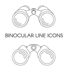 Birdwatching Travel Binocular Outline Icon vector image