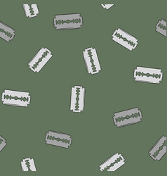 blade razor pattern in cartoon style seamless vector image