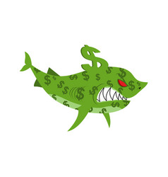 business shark sea predator color dollars finance vector image