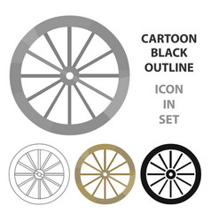 cart-wheel icon cartoon singe western icon from vector image