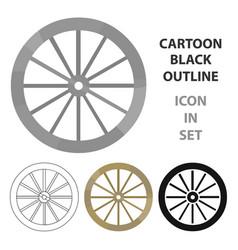Cart-wheel icon cartoon singe western icon from vector