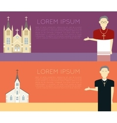 Catholic Church vector image