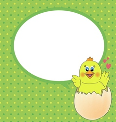 chicken with speech bubble vector image