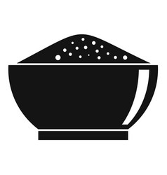 chili pepper bowl icon simple style vector image