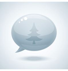 chtistmas tree speech bubbles vector image vector image