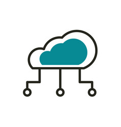 cloud computing connection web development icon vector image