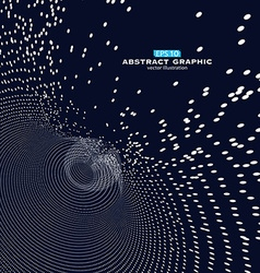 Composed of particles swirling abstract graphics vector
