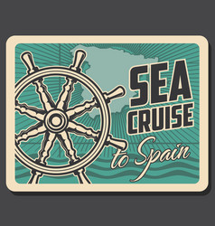 cruise to spain spanish travel and sea tourism vector image