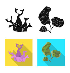 Design biodiversity and nature logo set vector
