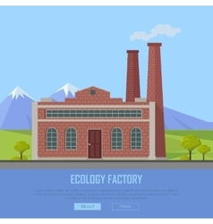 Ecology Factory Web Banner Eco Manufacturing vector image