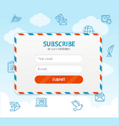 Email subscribe form vector