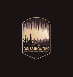 Emblem logo carlsbad caverns national park vector