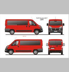 Fiat ducato passenger van l2h1 vector