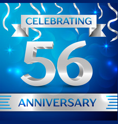 Fifty six years anniversary celebration design vector