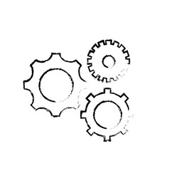 figure gears engineering industry process vector image