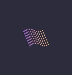 flag colorful dots logo design abstract modern vector image