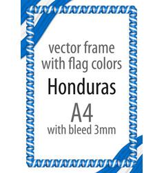 Flag v12 honduras vector