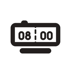 Flat icon in black and white style Digital Watch vector