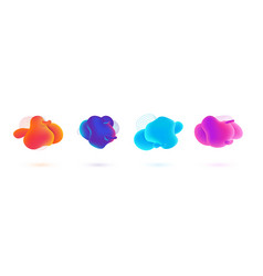 Fluid blobs banners gradient colorful liquid vector