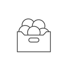 fruit box line outline icon vector image