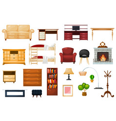 furniture furnishings design of living-room vector image