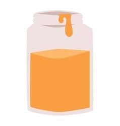 Glass jar of honey vector image