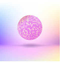 Halftone color sphere vector