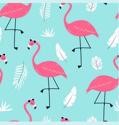 Hand drawing print design flamingo seamless vector