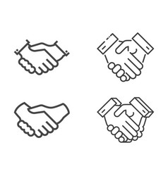 Handshake icons set vector