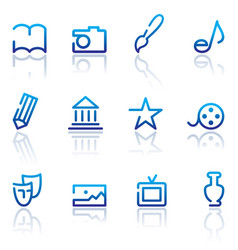 icons arts vector image