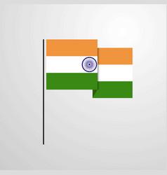 India waving flag design background vector
