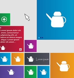 Kettle Icon sign buttons Modern interface website vector
