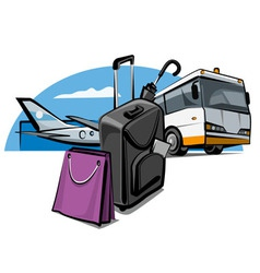 Luggage at airport vector