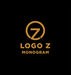 Luxury initial z logo design icon element isolated vector