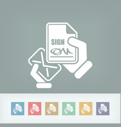 mail with a signed document vector image