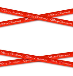 merry christmas red banners isolated on white vector image
