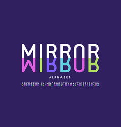 mirror style font vector image