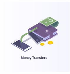 money transferdigital payment or online cashback vector image